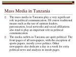 mass media in tanzania