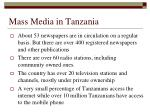 mass media in tanzania1