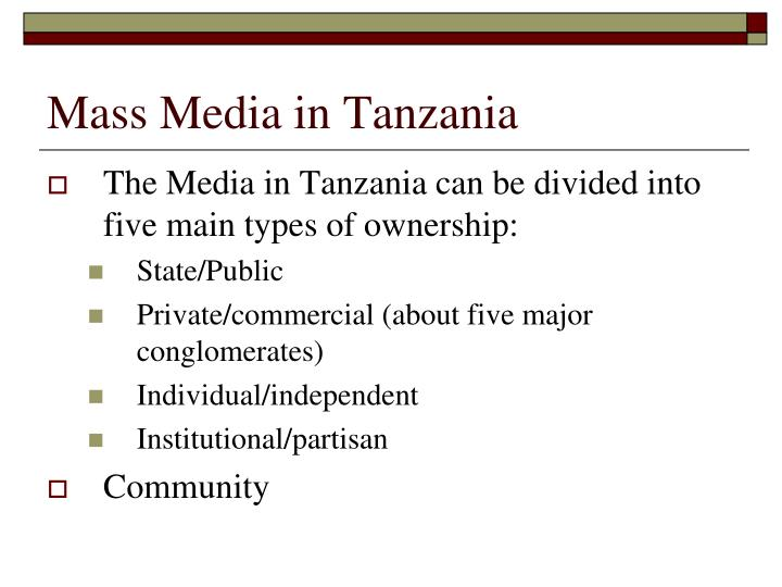 Mass Media in Tanzania