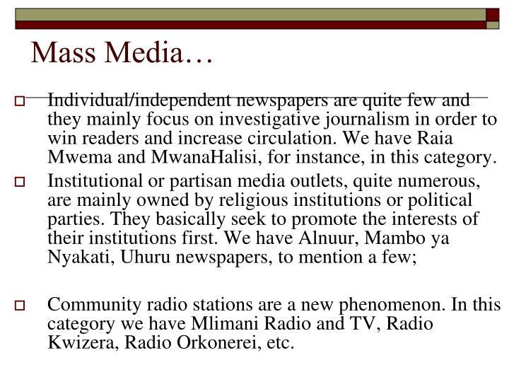 Mass Media…