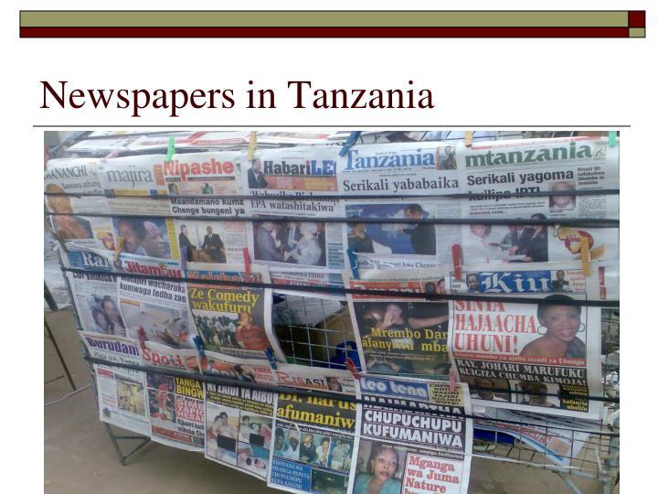 Newspapers in Tanzania