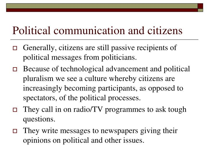 Political communication and citizens