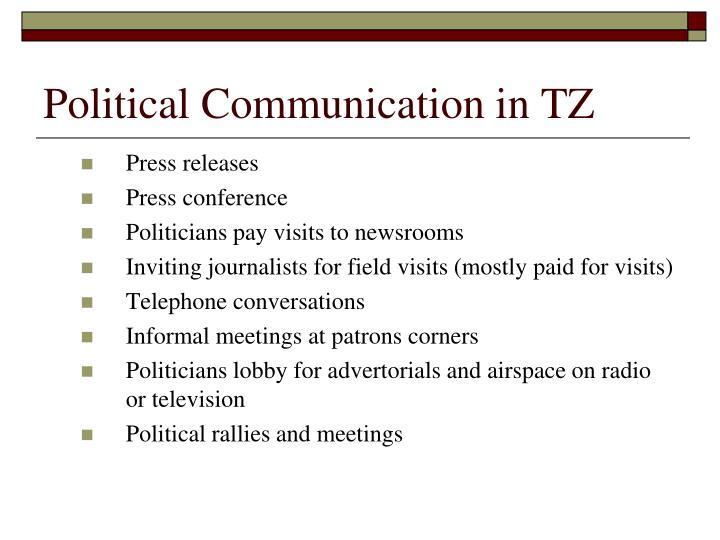 Political Communication in TZ