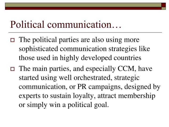 Political communication…