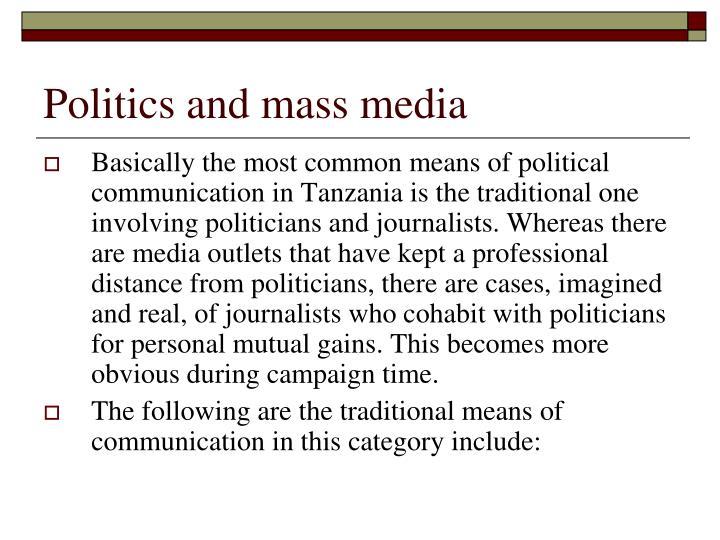 Politics and mass media