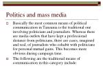 politics and mass media