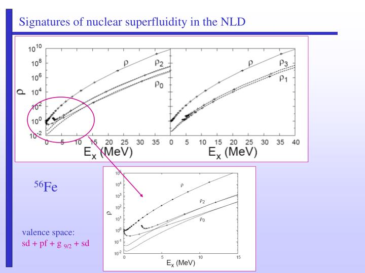 Signatures of nuclear superfluidity in the NLD