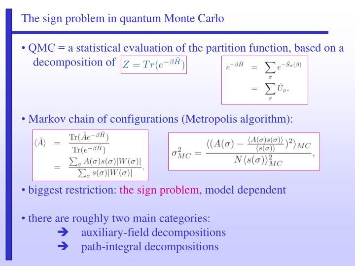 The sign problem in quantum Monte Carlo