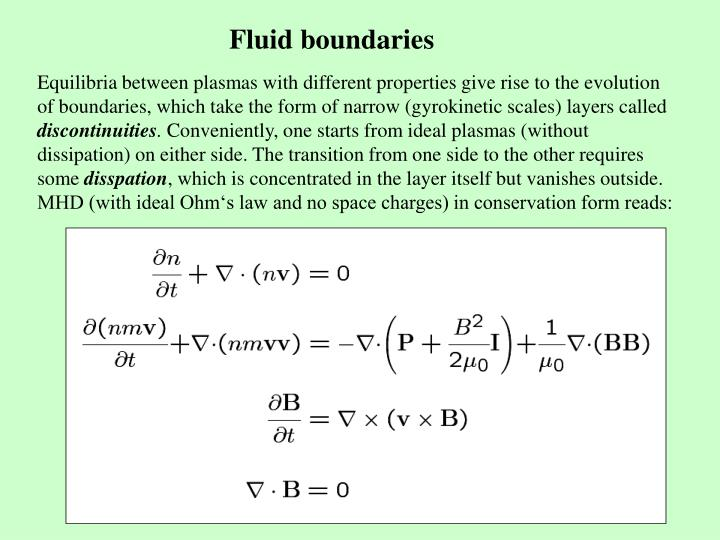 Fluid boundaries