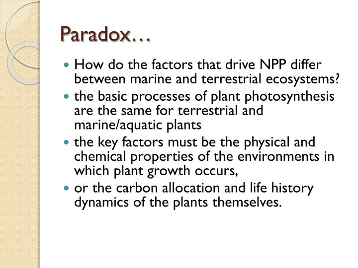 Paradox…