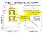 w jet s production jetclu r 0 4