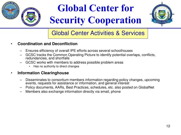 Coordination and Deconfliction