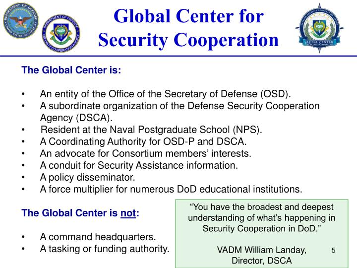 The Global Center is:
