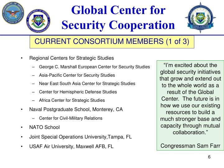 Regional Centers for Strategic Studies