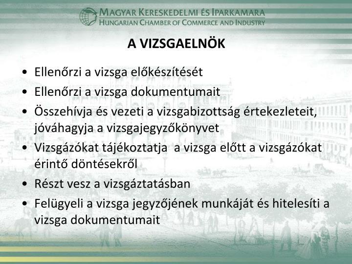 A VIZSGAELNÖK