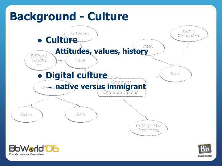 Background - Culture