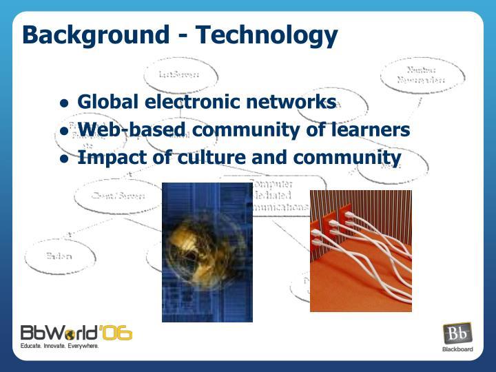 Background - Technology