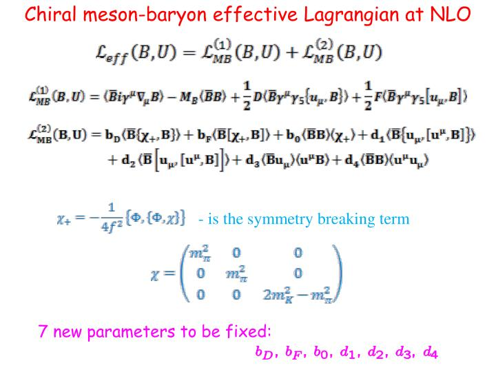 Chiral meson-baryon effective Lagrangian at NLO