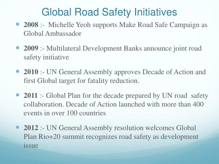 Global Road Safety Initiatives