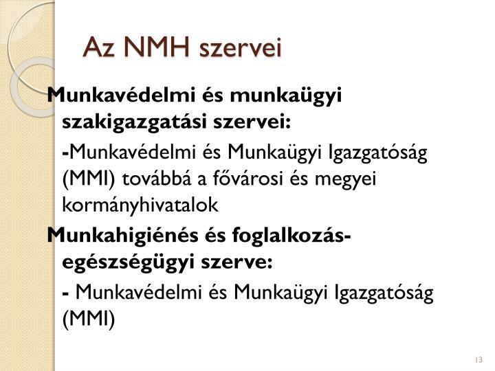 Az NMH szervei