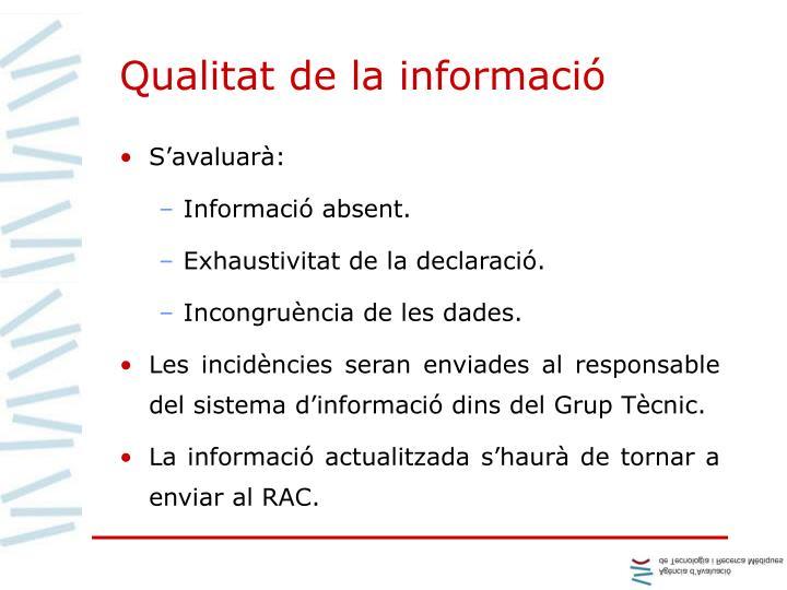 Qualitat de la informació