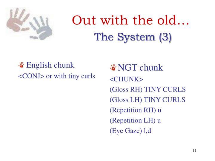 English chunk