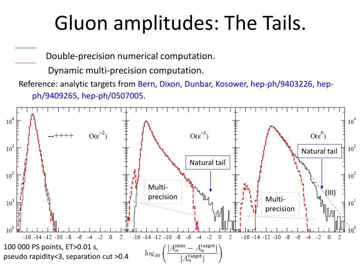 Gluon amplitudes: The Tails.
