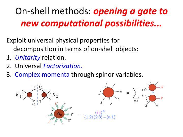 On-shell methods: