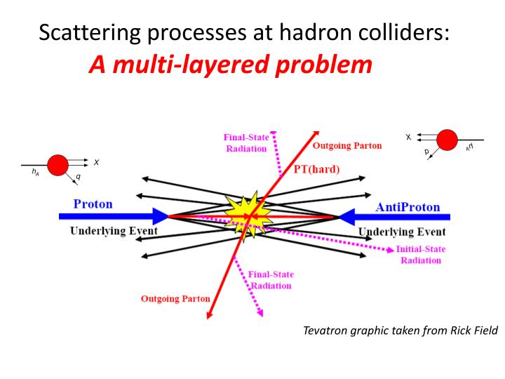 Scattering processes at hadron colliders: