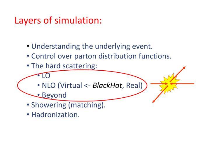 Layers of simulation: