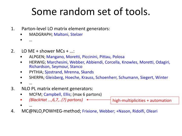 Some random set of tools.