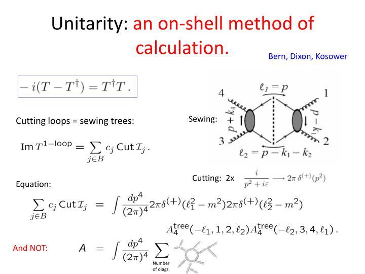 Unitarity:
