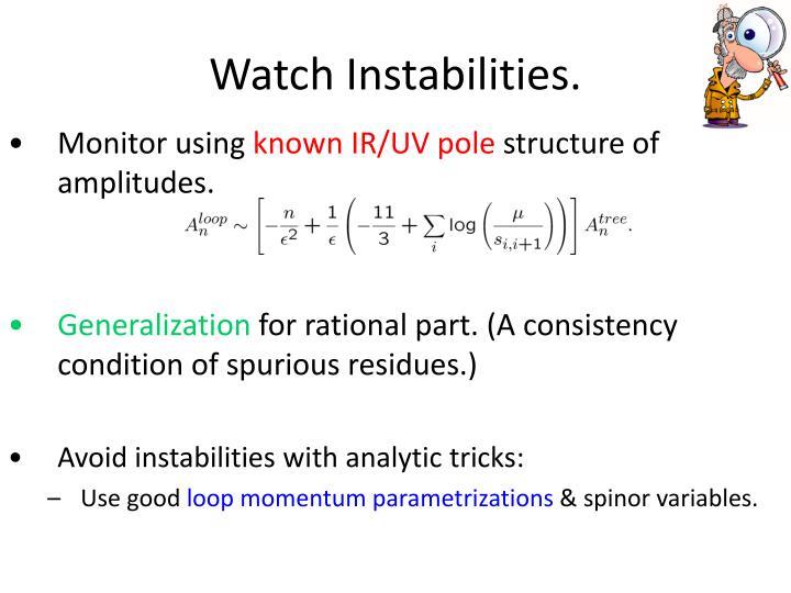 Watch Instabilities.