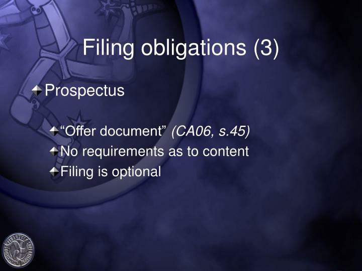 Filing obligations (3)