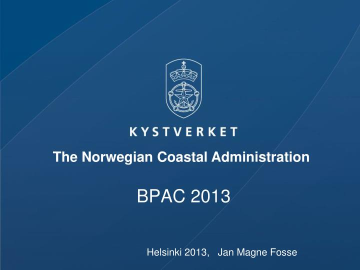 The Norwegian Coastal Administration