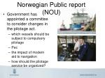 norwegian public report nou
