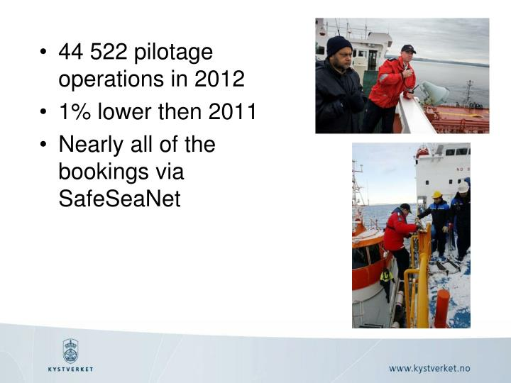 44 522 pilotage operations in 2012