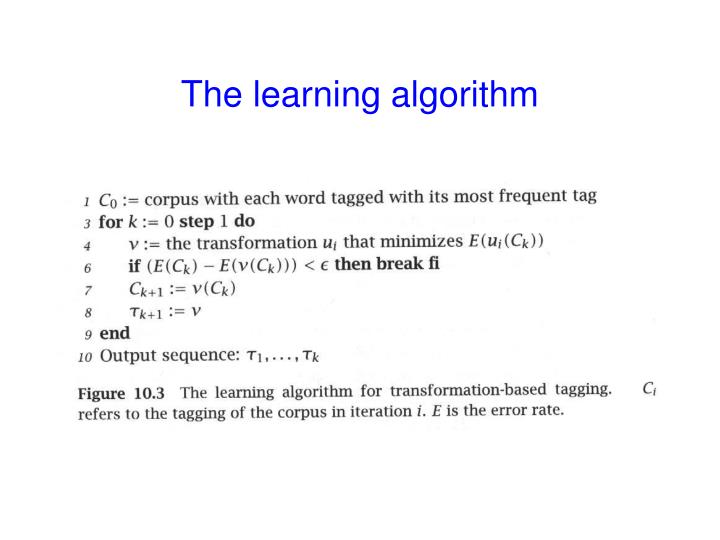 The learning algorithm