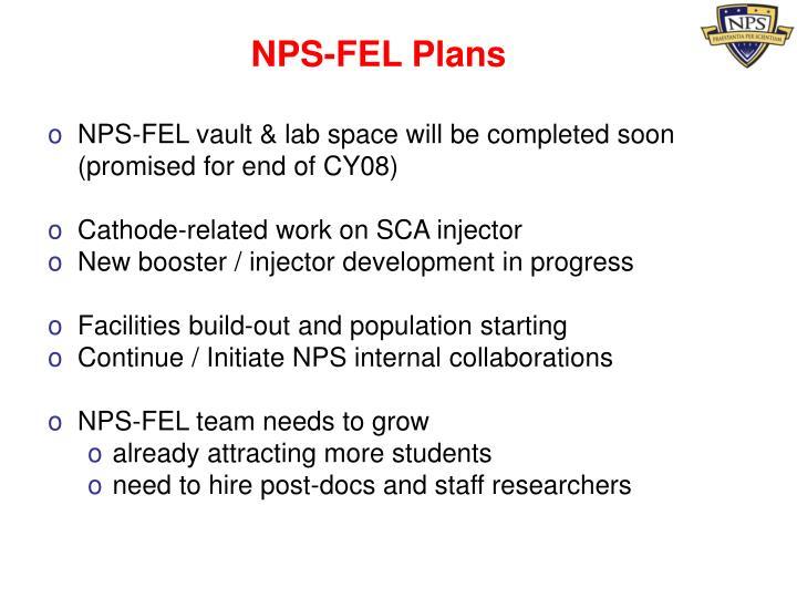 NPS-FEL Plans