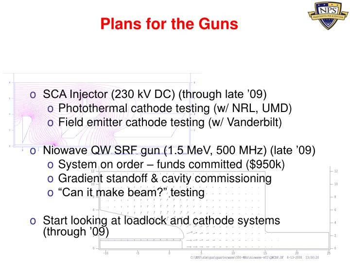 Plans for the Guns