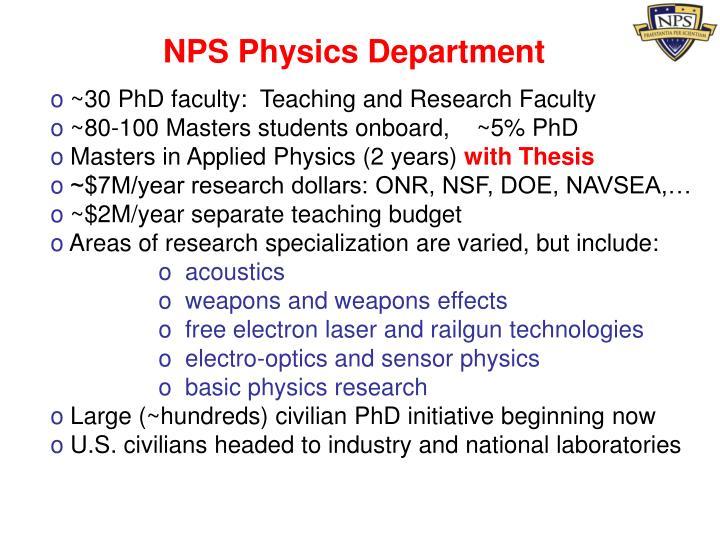 NPS Physics Department