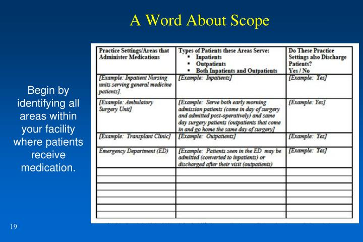A Word About Scope