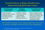 current evidence to reduce readmissions implementing bundled interventions