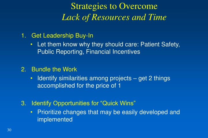 Strategies to Overcome