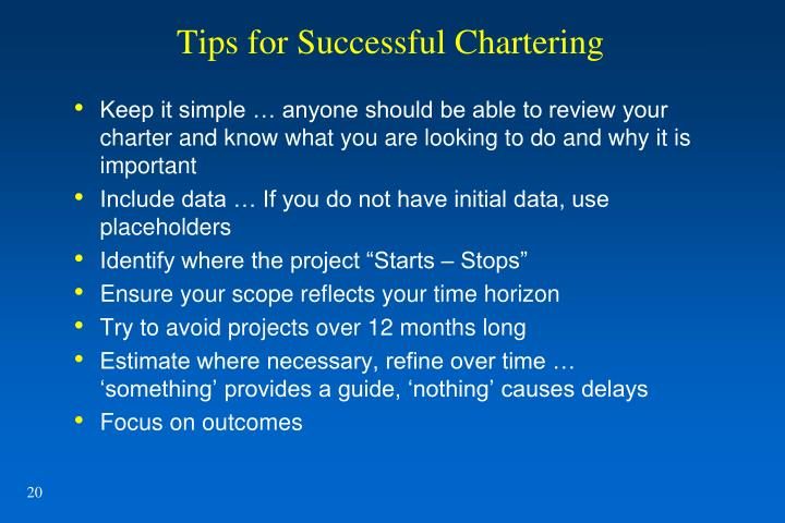 Tips for Successful Chartering