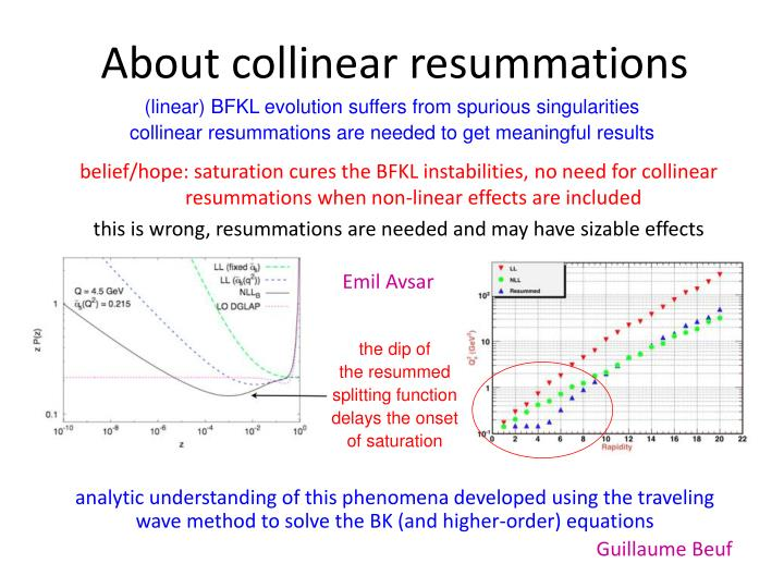 About collinear resummations