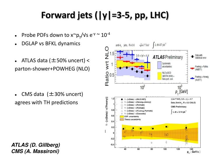 Forward jets (|y|=3-5, pp, LHC)