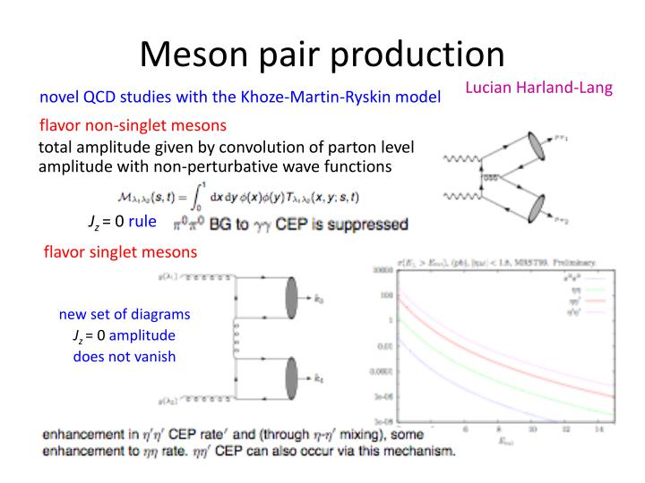 Meson pair production