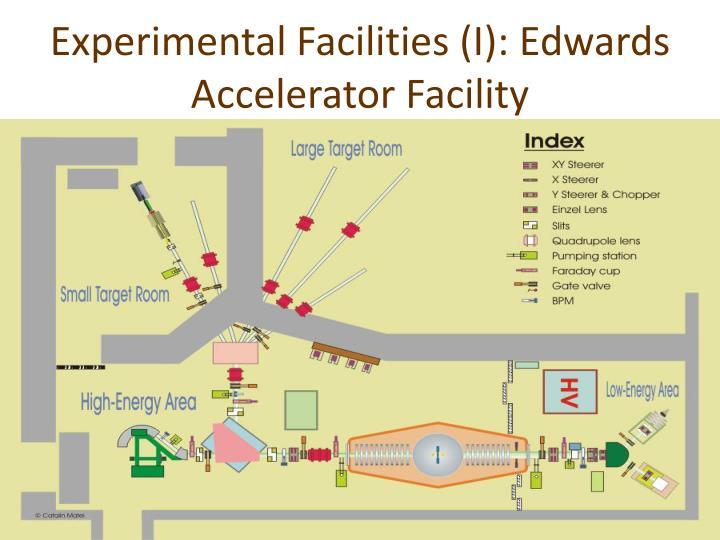 Experimental Facilities (I): Edwards Accelerator Facility