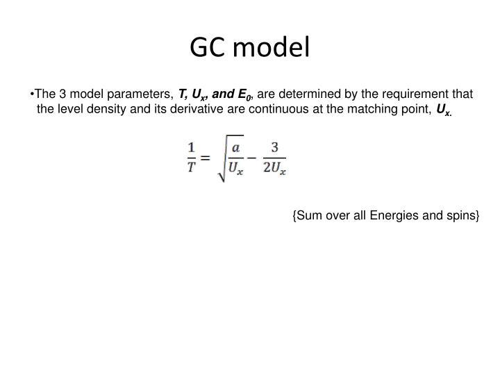 GC model